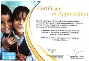 Hyg certificate