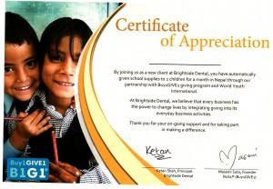 NC certificate
