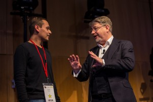 Ketan on stage with Phil Olley seeing first hand how we can expand our comfort zones and achieve much more than we think
